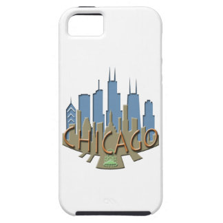 Chicago Skyline newwave beachy iPhone 5 Covers