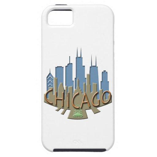 Chicago Skyline newwave beachy iPhone 5 Covers