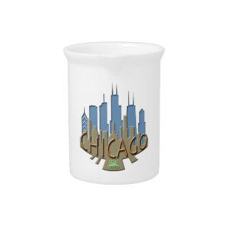 Chicago Skyline newwave beachy Beverage Pitchers