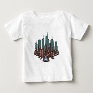Chicago Skyline newwave chocolate Baby T-Shirt