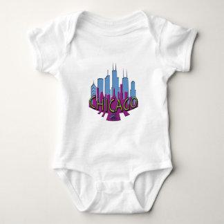 Chicago Skyline newwave cool Baby Bodysuit