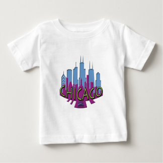 Chicago Skyline newwave cool Baby T-Shirt
