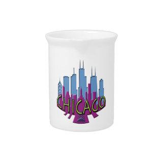 Chicago Skyline newwave cool Drink Pitchers