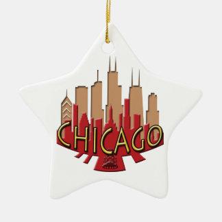 Chicago Skyline newwave hot Ceramic Ornament