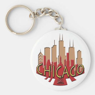 Chicago Skyline newwave hot Keychain