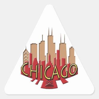Chicago Skyline newwave hot Triangle Sticker