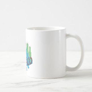 Chicago Skyline newwave primary Coffee Mug