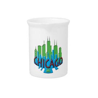 Chicago Skyline newwave primary Drink Pitchers