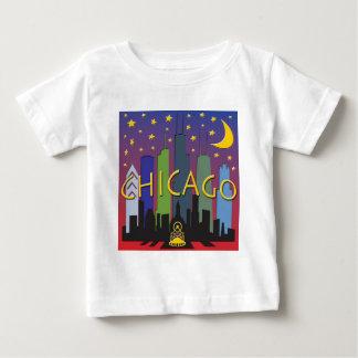 Chicago Skyline nightlife Baby T-Shirt