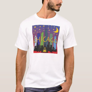 Chicago Skyline nightlife T-Shirt