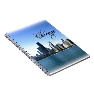Chicago Skyline Photo Across from Lake Michigan Notebook