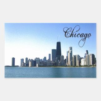 Chicago Skyline Photo Across from Lake Michigan Sticker