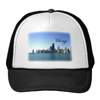 Chicago Skyline Photo Across from Lake Michigan Trucker Hat