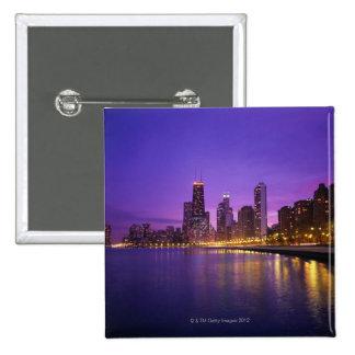 Chicago Skyline Pinback Button