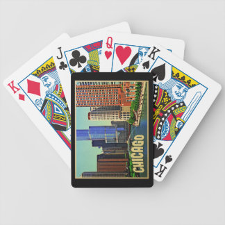 Chicago Skyline Bicycle Playing Cards