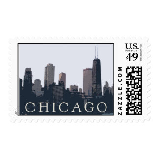 chicago skyline postage