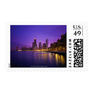Chicago Skyline Postage Stamp