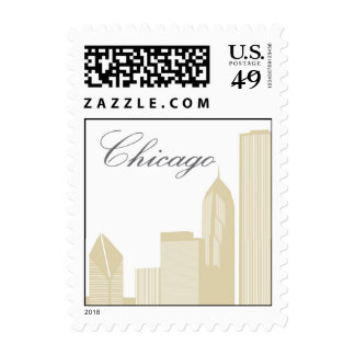 Chicago Skyline Postage Stamps