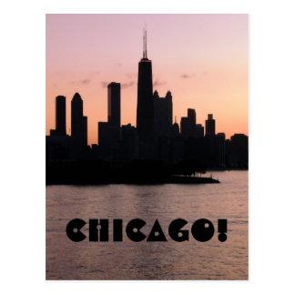 Chicago skyline post card