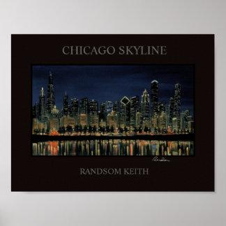 Chicago Skyline Poster Randsom keith fine art