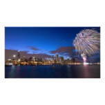 Chicago Skyline Poster w/Fireworks
