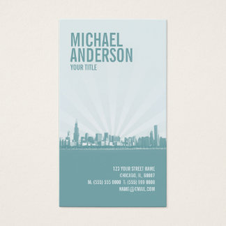 Chicago Skyline Professional business card