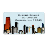 Chicago Skyline Shipping Labels