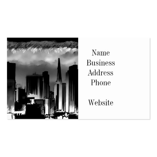 Chicago Skyline Sketch in Black and White Business Card