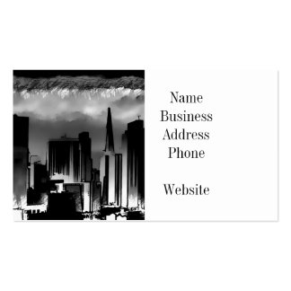 Chicago Skyline Sketch in Black and White Double-Sided Standard Business Cards (Pack Of 100)