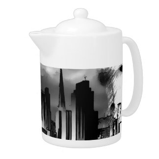 Chicago Skyline Sketch in Black and White