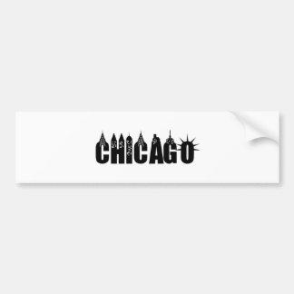 Chicago Skyline Skyscraper City Pride Bumper Sticker