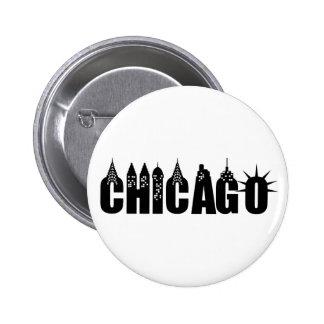 Chicago Skyline Skyscraper City Pride Pinback Button