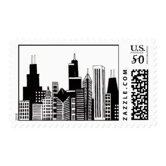 Chicago Skyline Stamp