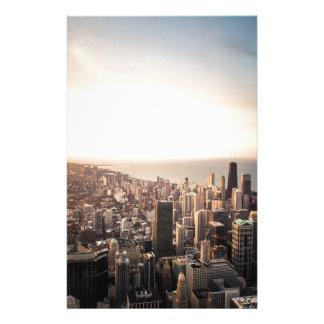 Chicago skyline stationery