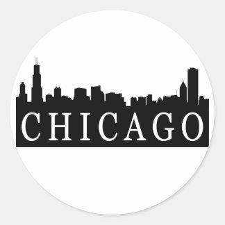 Chicago Skyline Round Sticker