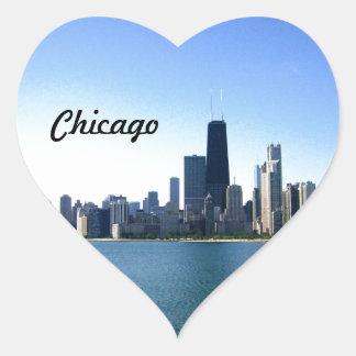 Chicago Skyline Heart Sticker