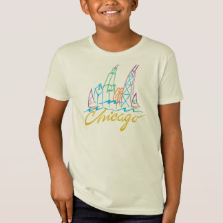 CHICAGO Skyline - Stylized script T-Shirt