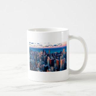 Chicago Skyline Sundown Coffee Mug