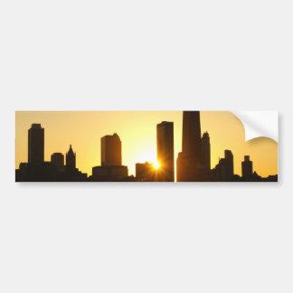 Chicago Skyline Sunset Bumper Sticker