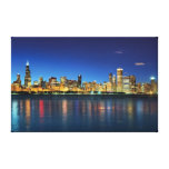 Chicago Skyline Sunset Canvas Print