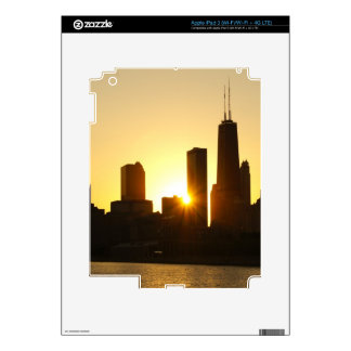 Chicago Skyline Sunset Decal For iPad 3