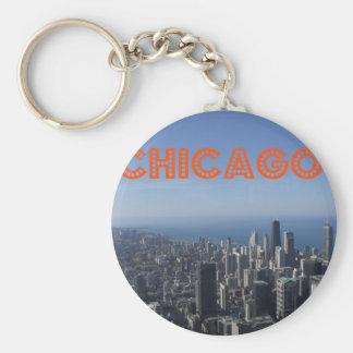 Chicago skyline T Key Chain
