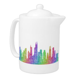 Chicago skyline teapot