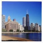 Chicago Skyline. Tile