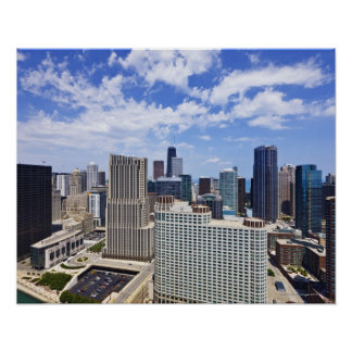 Chicago Skyline to the North of Downtown Poster