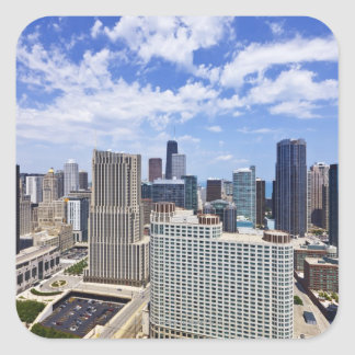 Chicago Skyline to the North of Downtown Square Sticker