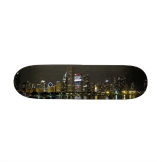 Chicago skyline under your feet skateboard deck