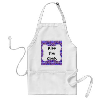 Chicago Skyline Urban Art in Purple and Blue Adult Apron