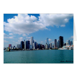 Chicago skyline view from Navy Pier Card