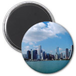 Chicago skyline view from Navy Pier Refrigerator Magnet